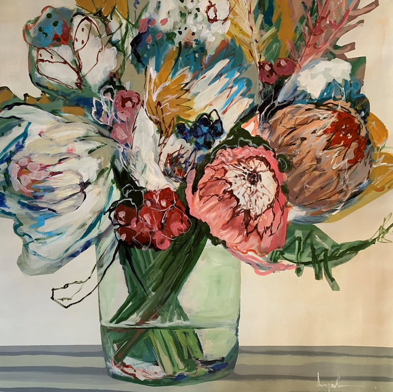 (CreativeWork) Natures Scatterlings by Angela Maritz. Acrylic Paint. Shop online at Bluethumb.
