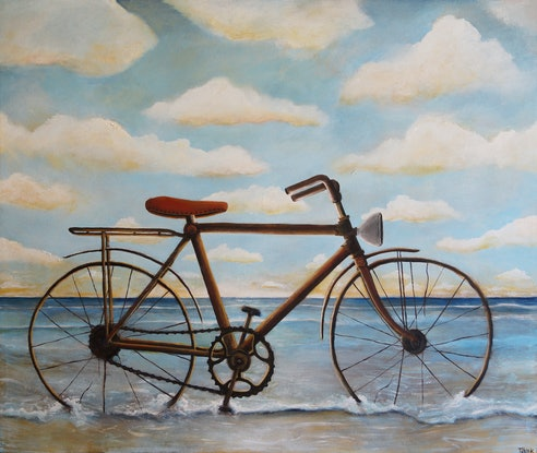 (CreativeWork) Cycles by Tank .. Acrylic Paint. Shop online at Bluethumb.