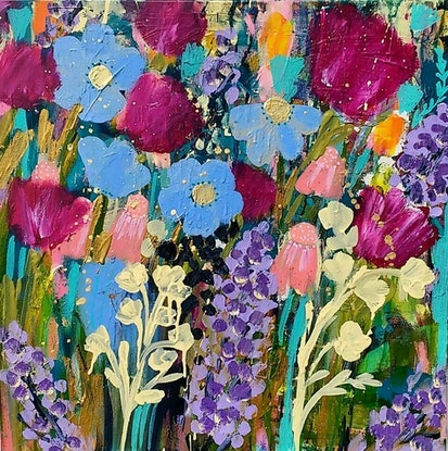 (CreativeWork) Favourite Colours by Sandra Oost. Acrylic Paint. Shop online at Bluethumb.