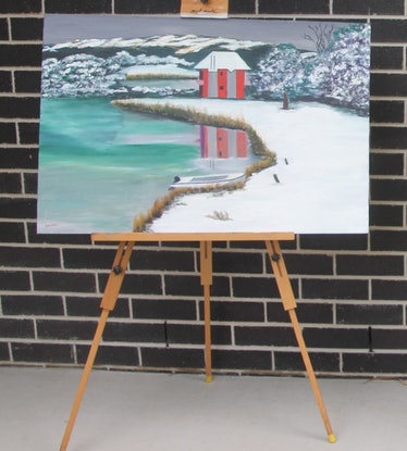 (CreativeWork) LAKE CRACKENBACK 1 by Ralph Coles. Oil Paint. Shop online at Bluethumb.