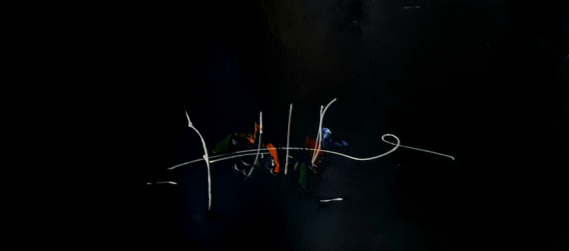 (CreativeWork) Calligraphy of a Melody by Christos Angelakis. Oil Paint. Shop online at Bluethumb.