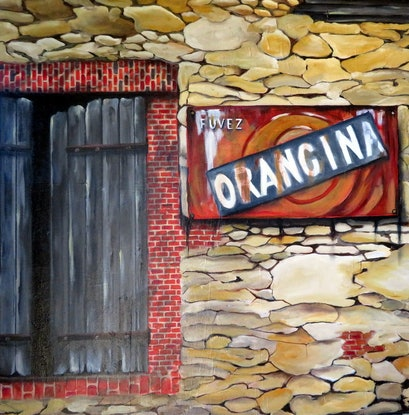 (CreativeWork) French Village by Dianne Fix. Oil Paint. Shop online at Bluethumb.