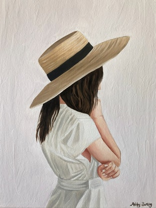 (CreativeWork) Pensive Dreamer  by Ashley Bunting. Oil Paint. Shop online at Bluethumb.