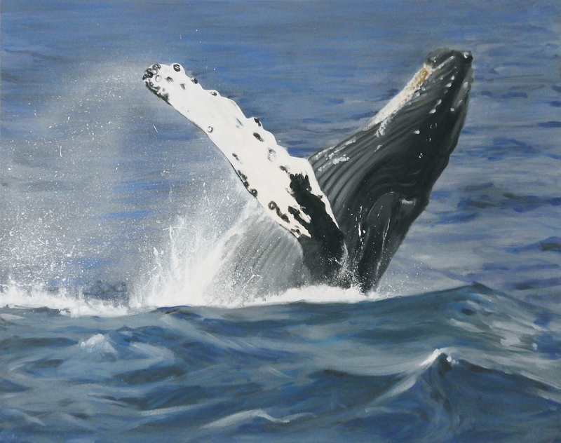 (CreativeWork) humpback hello by Naomi Veitch. Acrylic Paint. Shop online at Bluethumb.