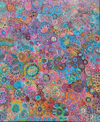 (CreativeWork) Festival  by Jemma Attwater. Acrylic Paint. Shop online at Bluethumb.