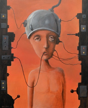 (CreativeWork)  Machine for self depression by Max Horst  Sokolowski. Acrylic Paint. Shop online at Bluethumb.