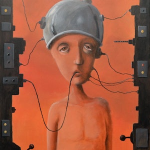 (CreativeWork)  Machine for self depression by Max Horst  Sokolowski. arcylic-painting. Shop online at Bluethumb.