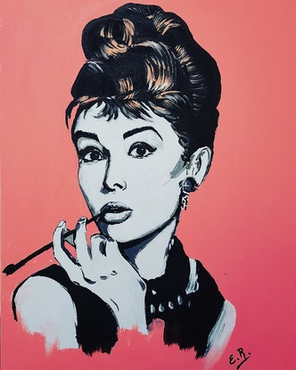 (CreativeWork) Audrey  by Elda Rajovic. Acrylic Paint. Shop online at Bluethumb.