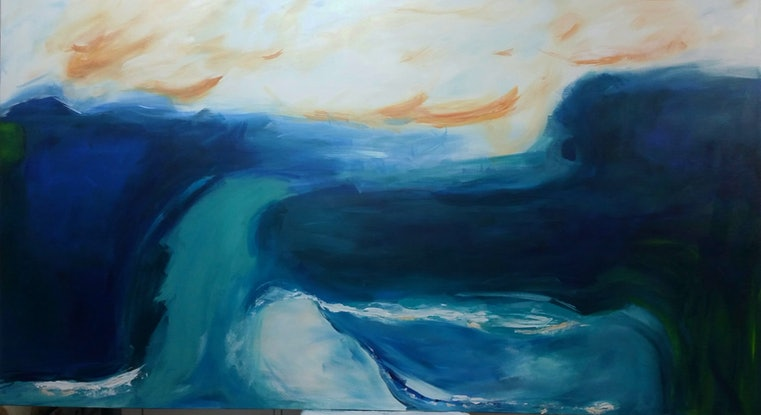 (CreativeWork) Tides are Turning by Rachel Prince. Acrylic Paint. Shop online at Bluethumb.