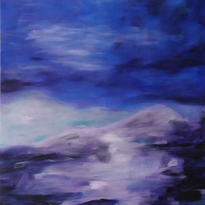 (CreativeWork) Shifting Winds by Rachel Prince. arcylic-painting. Shop online at Bluethumb.