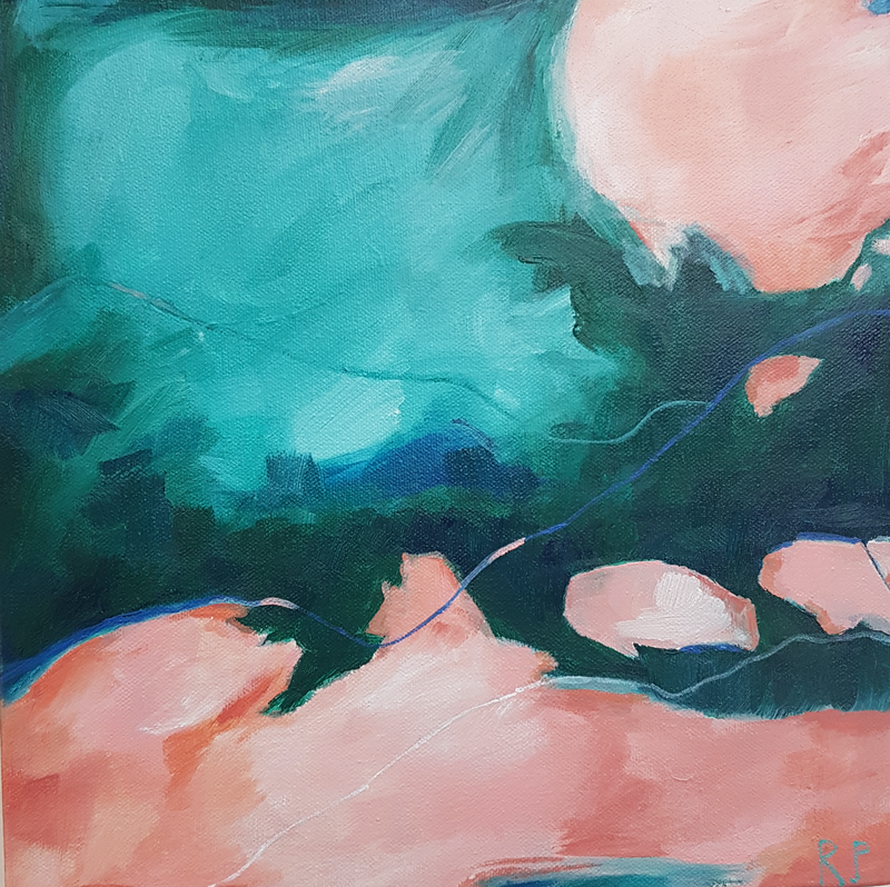 (CreativeWork) Afterglow by Rachel Prince. Acrylic Paint. Shop online at Bluethumb.