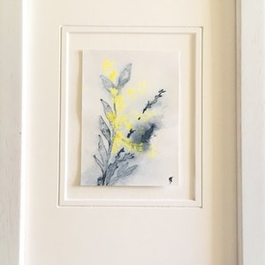 (CreativeWork) Studio View - ACEO Wattle ii - Framed Miniature Original Drawing by Kylie Fogarty. drawing. Shop online at Bluethumb.