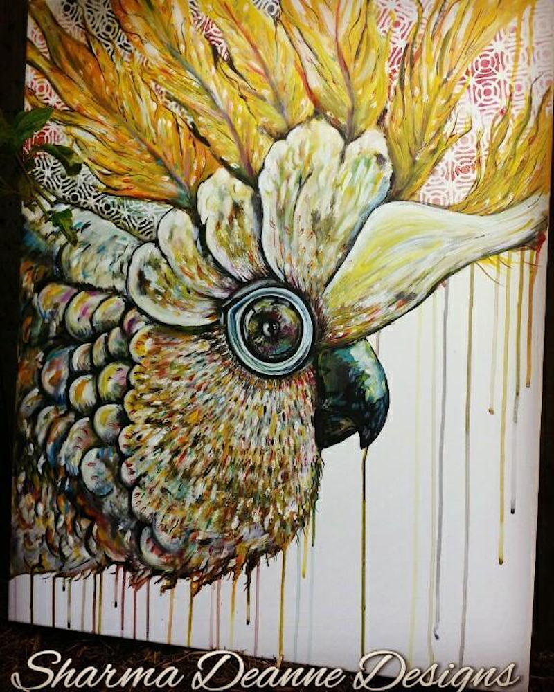 (CreativeWork) Curious Cocky by Sharma Ferguson. Acrylic Paint. Shop online at Bluethumb.