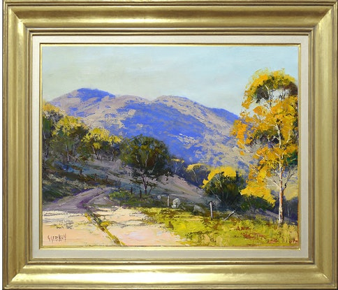 (CreativeWork) Valley Track near Lithgow by Graham Gercken. Oil Paint. Shop online at Bluethumb.