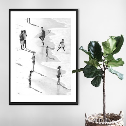 (CreativeWork) Shore Shadows by Ro Geddes. Drawings. Shop online at Bluethumb.