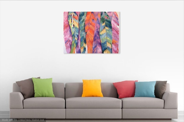 (CreativeWork) LIVING COLOUR by Eve Sellars. Acrylic Paint. Shop online at Bluethumb.