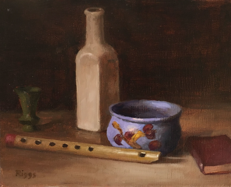 (CreativeWork) still life old music by Robert Riggs. Oil Paint. Shop online at Bluethumb.