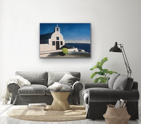 (CreativeWork) On The Way To Oia by Trisha Lambi. Oil Paint. Shop online at Bluethumb.