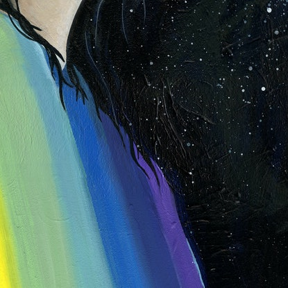 (CreativeWork) Midnight Dancer by Alicia Rogerson. Acrylic Paint. Shop online at Bluethumb.