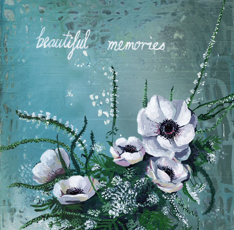 (CreativeWork) When I Close My Eyes by Alicia Rogerson. Mixed Media. Shop online at Bluethumb.