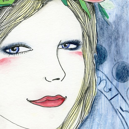 (CreativeWork) My Heart Is Full Tonight by Alicia Rogerson. Drawings. Shop online at Bluethumb.