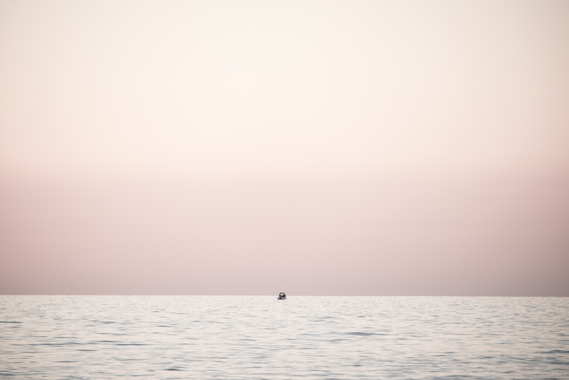 (CreativeWork) Tiny fishing boat in pink by Wendy Philip. photograph. Shop online at Bluethumb.