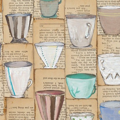 (CreativeWork) I Don't Drink Tea by Alicia Rogerson. Mixed Media. Shop online at Bluethumb.