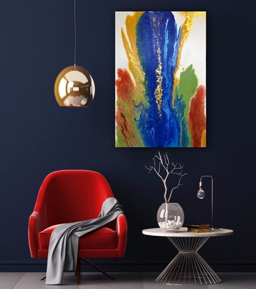 (CreativeWork) Abstract #45 by Brigitte Ackland. Acrylic Paint. Shop online at Bluethumb.
