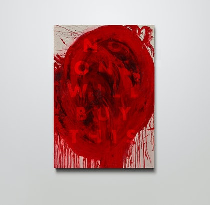 (CreativeWork) No one will buy this (red)  Ed. 49 of 50 by Stephen McKenzie. print. Shop online at Bluethumb.
