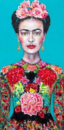(CreativeWork) Frida's Courage Limited Edition Large Giclee Fine Art Print        by Tanya Cole. Acrylic Paint. Shop online at Bluethumb.