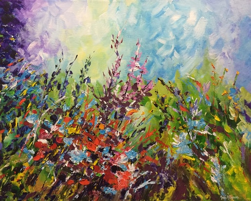 (CreativeWork) Summer Dreaming by Julie Dynan. Acrylic Paint. Shop online at Bluethumb.