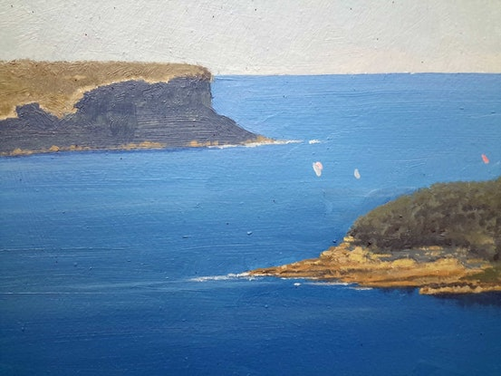 (CreativeWork) From Moruben Road toward the heads by Steven Heyen. Oil Paint. Shop online at Bluethumb.