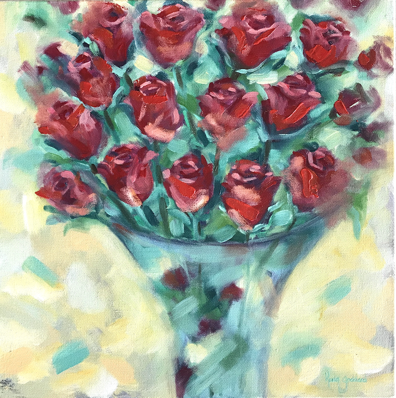 (CreativeWork) A gift from the heart by Karen Goddard. Oil Paint. Shop online at Bluethumb.