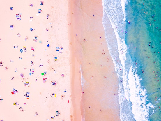 (CreativeWork) Wollongong Beach - Edition 1 of 50 Ed. 1 of 50 by Ali Diab. Photograph. Shop online at Bluethumb.