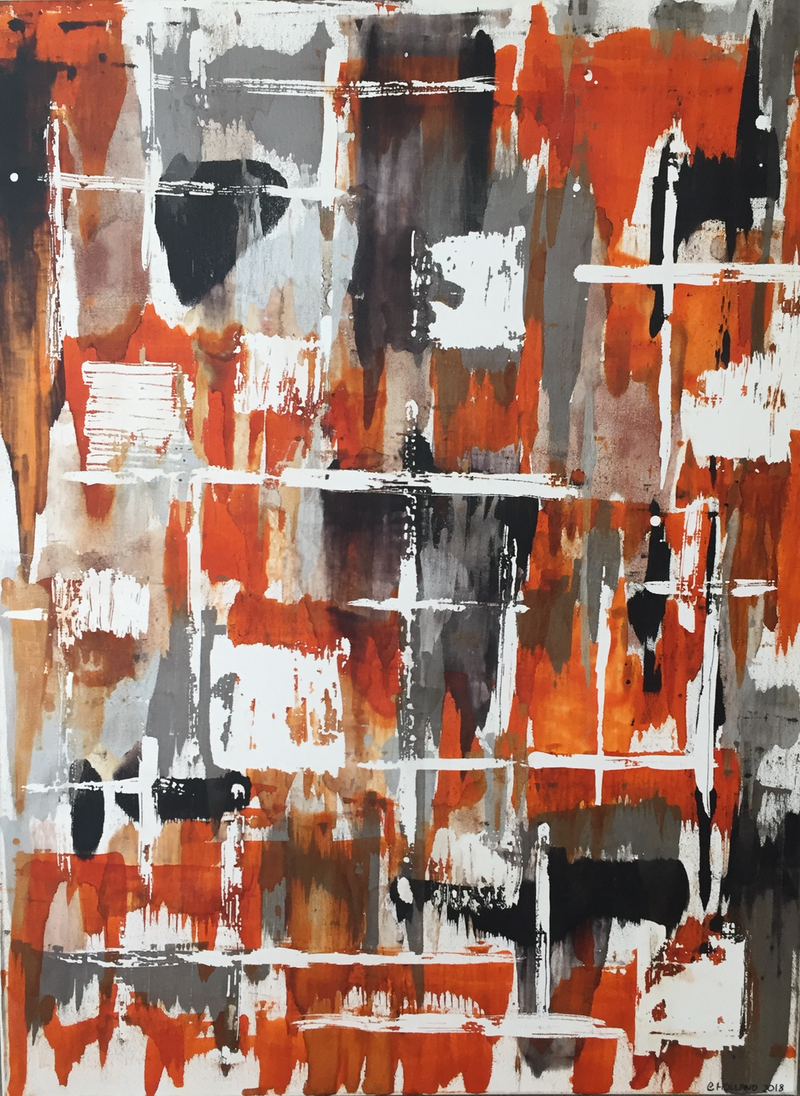 (CreativeWork) Orange is the new black  by Clare Holland. Drawings. Shop online at Bluethumb.