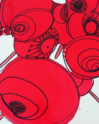 (CreativeWork) Red  by Clare Holland. Other Media. Shop online at Bluethumb.