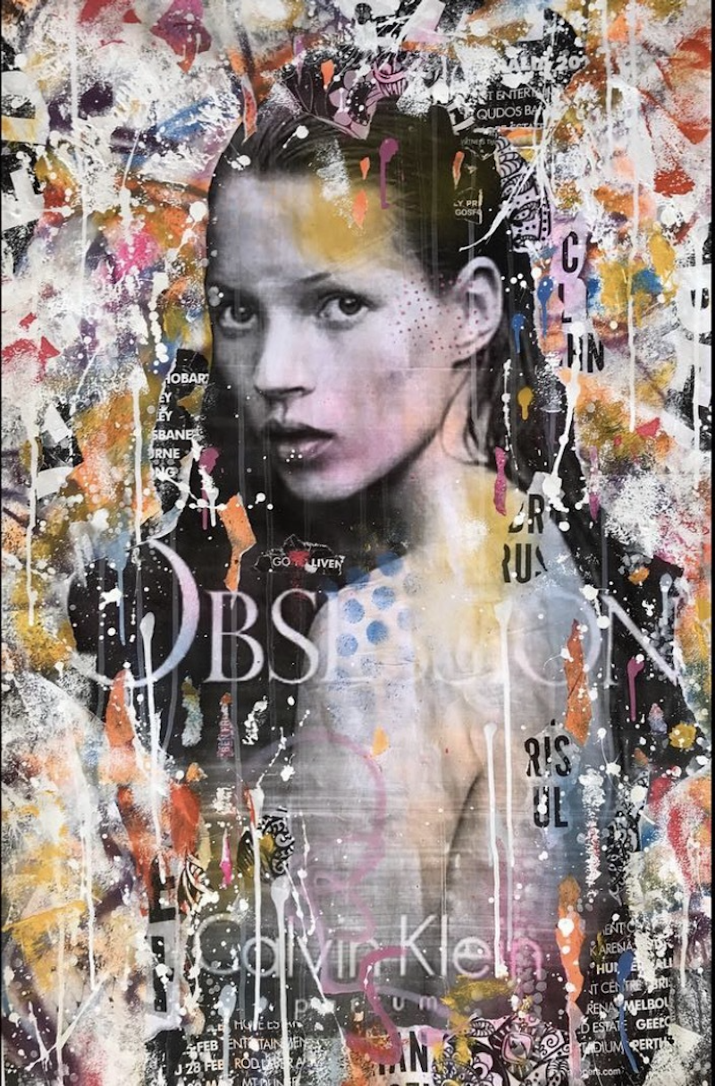 (CreativeWork) Obsession  by Cold Ghost. Mixed Media. Shop online at Bluethumb.