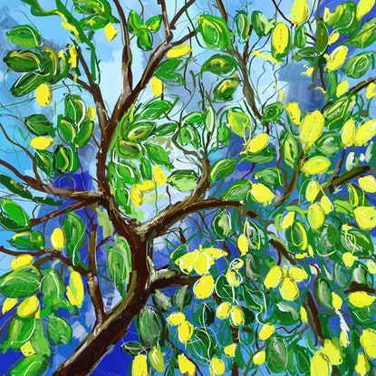 (CreativeWork) Lemons in the sky by Gino Ciancio. Other Media. Shop online at Bluethumb.