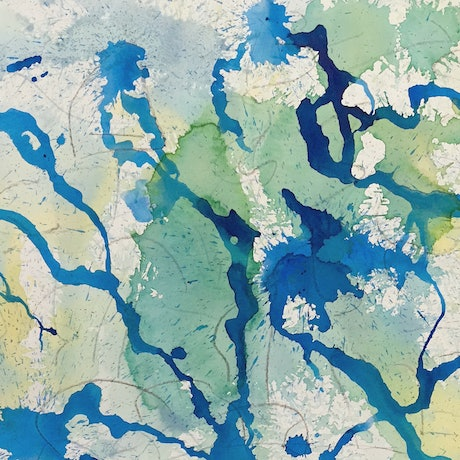 (CreativeWork) Where Rivers Run by Peter Bastaja. Acrylic Paint. Shop online at Bluethumb.