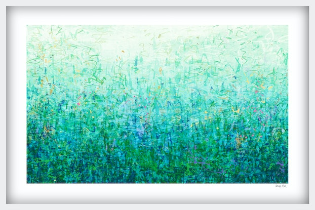 (CreativeWork) 'The First Garden' in white frame   Ed. 6 of 75 by George Hall. Print. Shop online at Bluethumb.