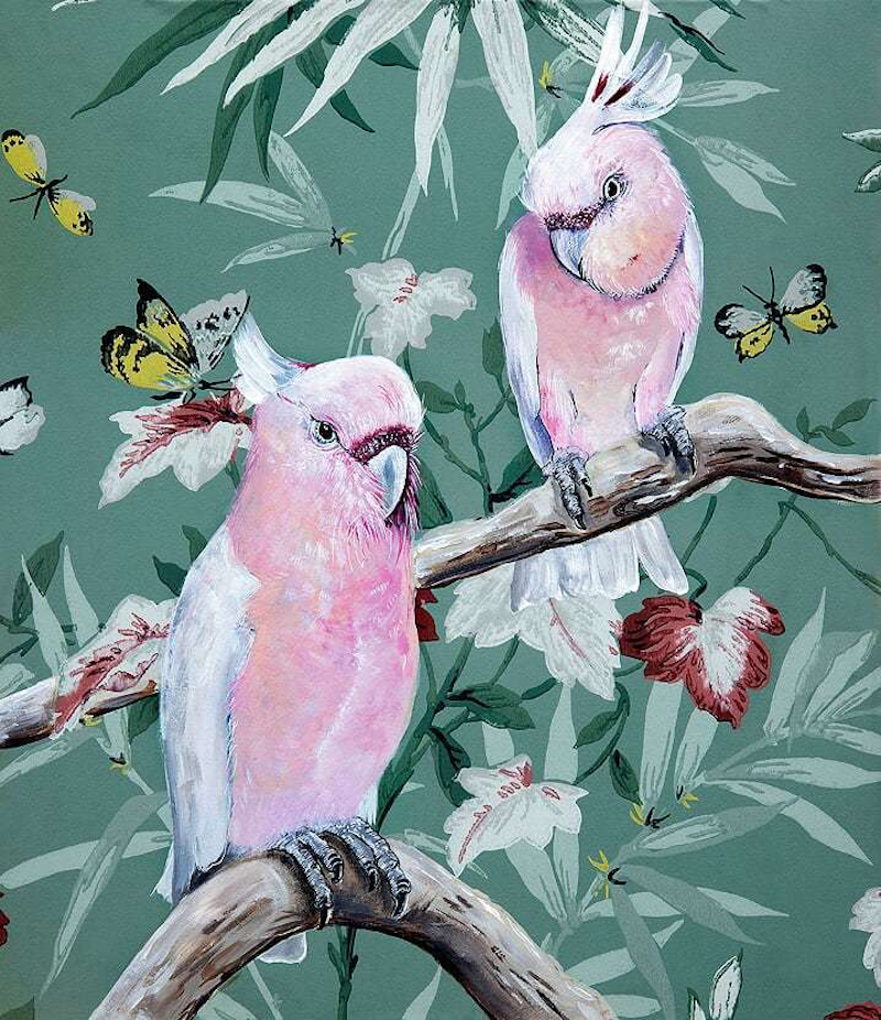 (CreativeWork) Vintage Flora & Fauna Series - Major Mitchells  Ed. 2 of 50 by HEYLIE MORRIS. Print. Shop online at Bluethumb.