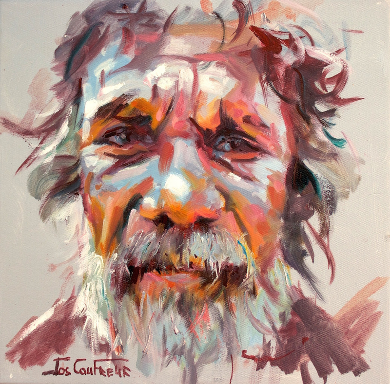 (CreativeWork) Wisdom III by Jos Coufreur. Acrylic Paint. Shop online at Bluethumb.