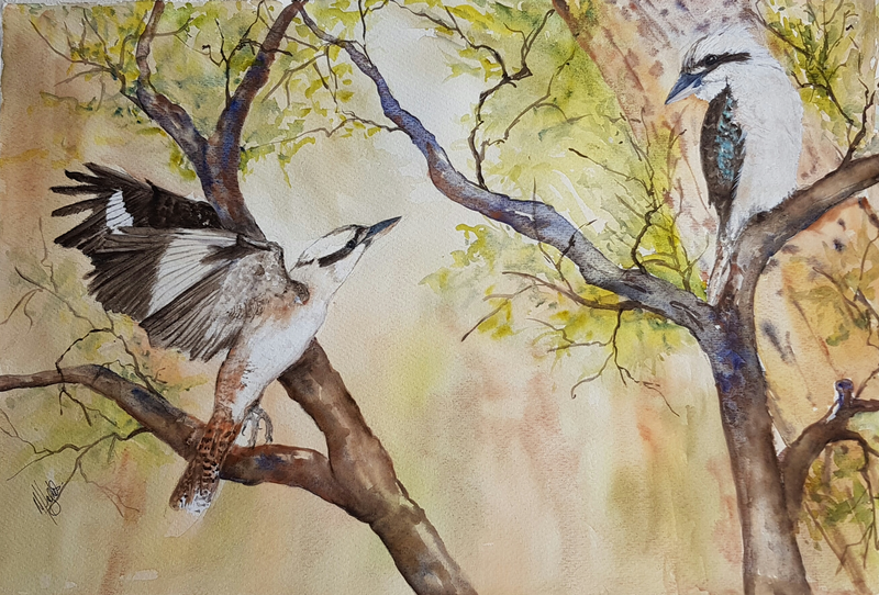 (CreativeWork) Be there soon by Marion Hughes. Watercolour Paint. Shop online at Bluethumb.