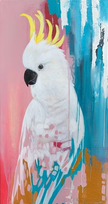 (CreativeWork) True Blue Baby by Emma Wreyford. Acrylic Paint. Shop online at Bluethumb.
