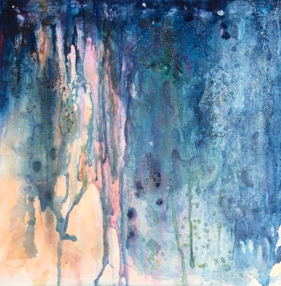 (CreativeWork) Blues in the Night by sue carter. Watercolour Paint. Shop online at Bluethumb.