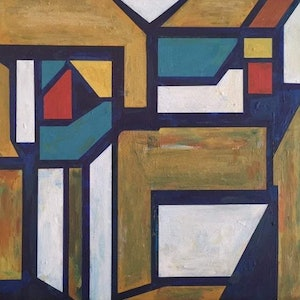 (CreativeWork) Warehouse Windows by Claudia Claveria. arcylic-painting. Shop online at Bluethumb.