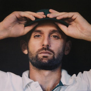 (CreativeWork) Nice Garry (Portrait of Nathan Lyon) by Todd Simpson. arcylic-painting. Shop online at Bluethumb.