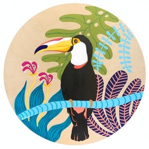 (CreativeWork) Toucan by emma whitelaw. arcylic-painting. Shop online at Bluethumb.