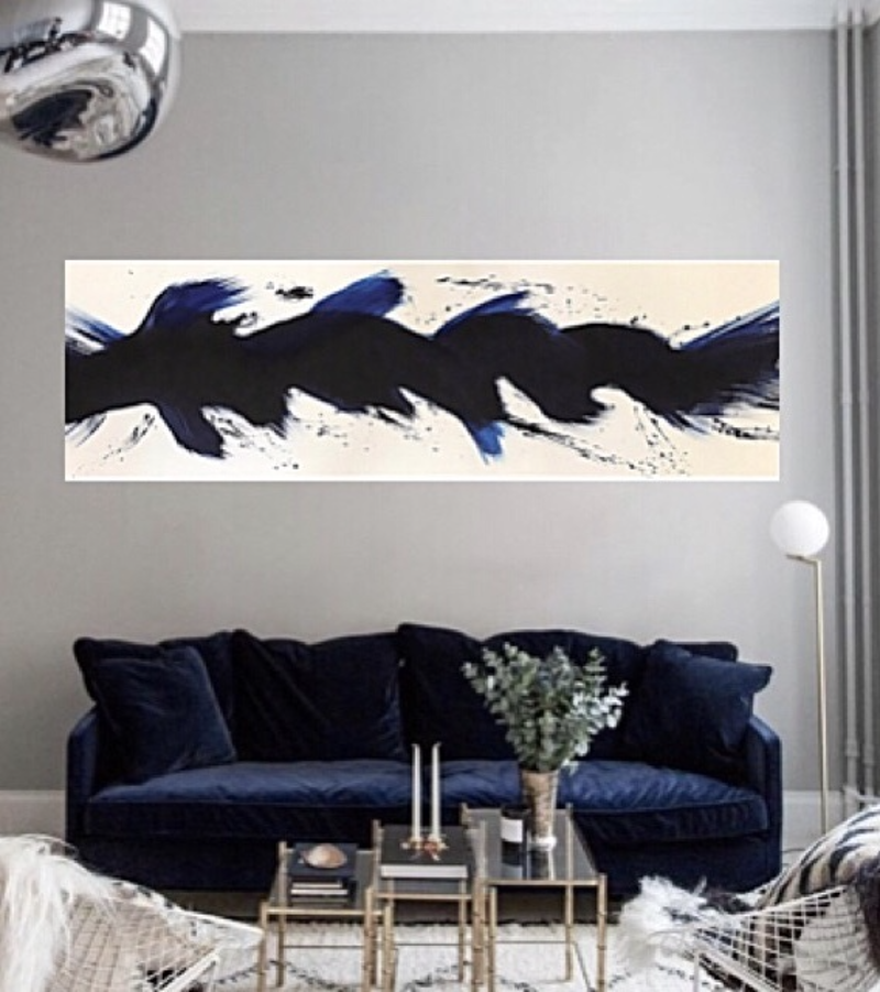 (CreativeWork) WIRED UP /NAVY by Tracey Berthold. Mixed Media. Shop online at Bluethumb.