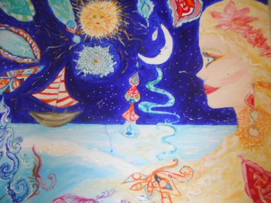 (CreativeWork) 'Journey' by Tessara Brown. Acrylic Paint. Shop online at Bluethumb.